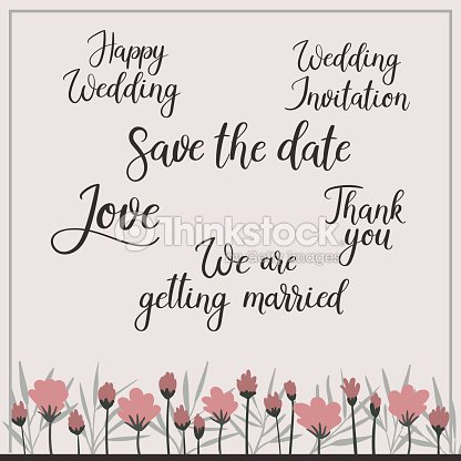 Wedding calligraphy set save the date invitation getting married wedding calligraphy set save the date invitation getting married vector art stopboris Choice Image