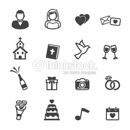 Hochzeit Symbole Vektorgrafik Thinkstock
