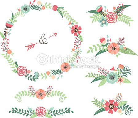 Wedding Flower Elements Vector Art Thinkstock