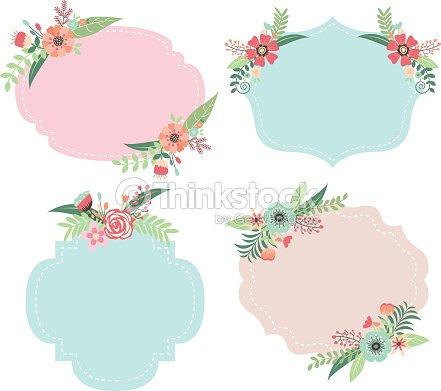 Wedding Flower Frames Vector Art