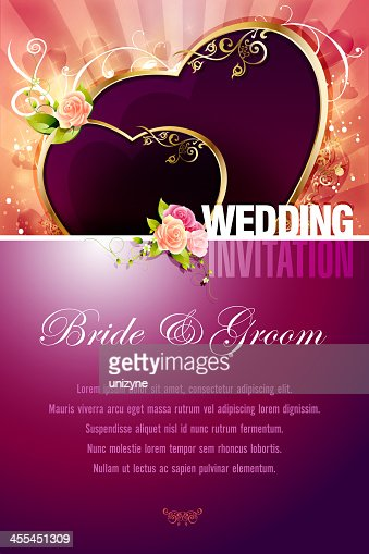 wedding invitation background vector art | getty images, Wedding invitations