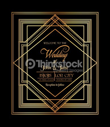 Wedding invitation card art deco gatsby style vector art thinkstock wedding invitation card art deco gatsby style vector art stopboris