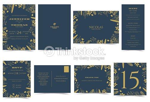 Wedding invitation card formal styledark blue and gold tone arte wedding invitation card formal styledark blue and gold tone arte vetorial stopboris Image collections