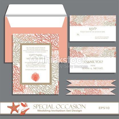 Wedding invitation card set vector art thinkstock wedding invitation card set vector art stopboris Choice Image