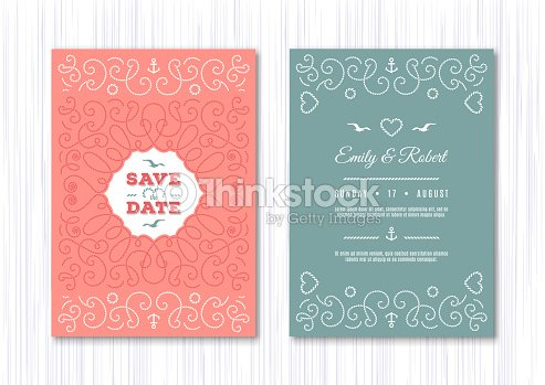 Wedding invitation card template nautical save the date cards marine wedding invitation card template nautical save the date cards marine vector elegant frame stopboris Gallery