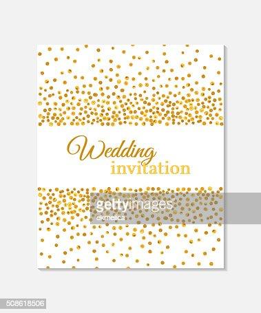 Wedding invitation card. : Vector Art