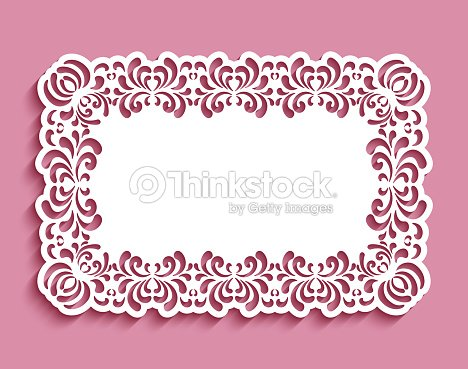 Wedding invitation card with cutout border ornament of floral swirls wedding invitation card with cutout border ornament of floral swirls vector art stopboris Images