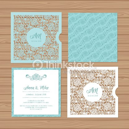 Wedding invitation card with laser cut envelope vector art thinkstock wedding invitation card with laser cut envelope vector art stopboris Choice Image