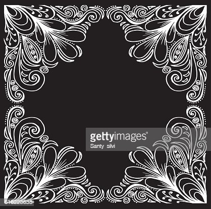 Wedding invitation. Ornamental frame. Ethnic motives. Lovely tablecloth : Vektorgrafik