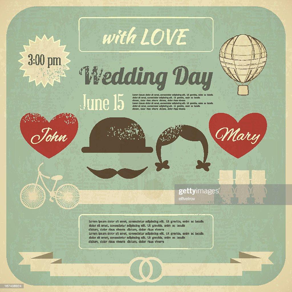 Wedding Invitation : Vector Art