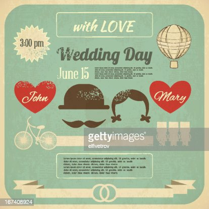 Wedding Invitation : Vector Art