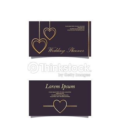 Wedding Planner Business Card Vector Art