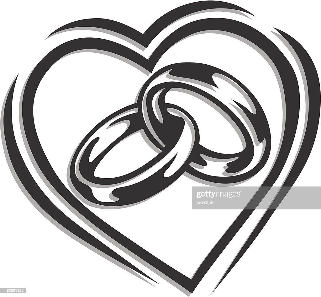 Wedding Ring In Heart Vector Art Thinkstock