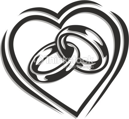 wedding ring in heart vector art thinkstock. Black Bedroom Furniture Sets. Home Design Ideas