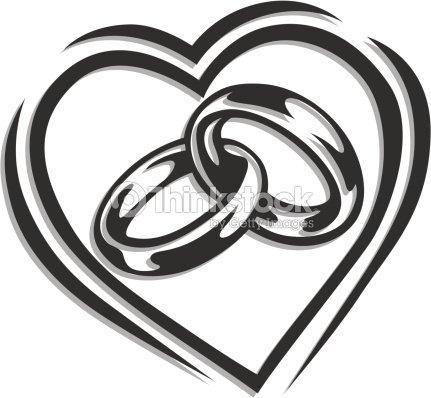 Wedding Ring In Heart Vector Art