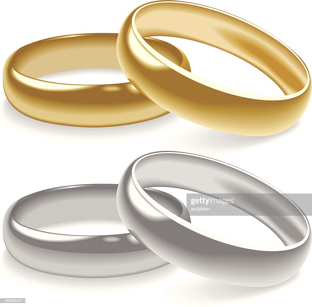 Wedding Rings Vector Art | Getty Images