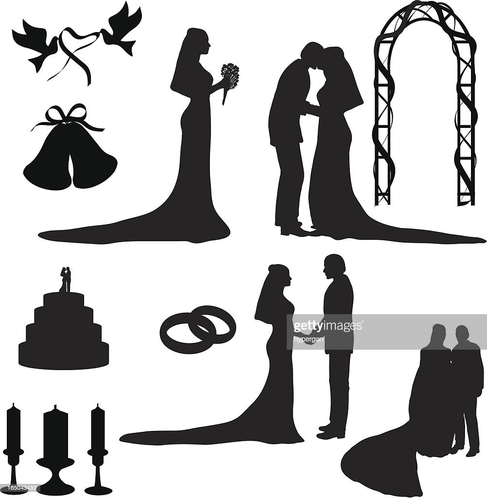 Wedding silhouette collection vector art getty images wedding silhouette collection vectorjpg junglespirit Choice Image