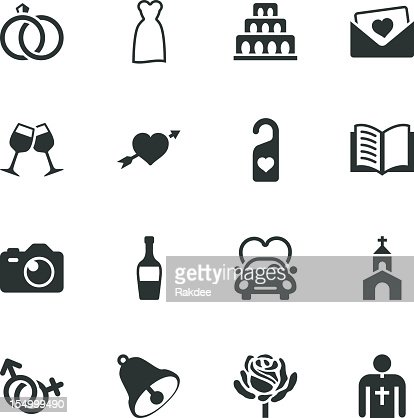 Wedding Silhouette Icons