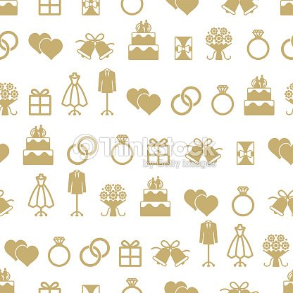 Wedding Themed Vector Seamless Pattern Background 1 Art