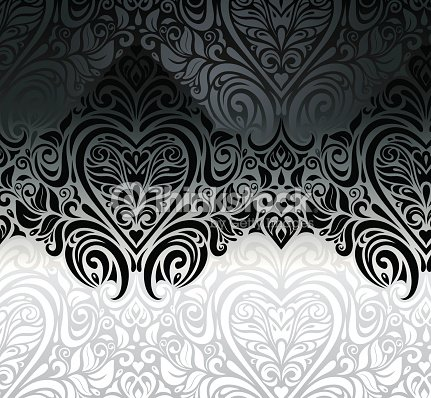Wedding vintage black white floral invitation background for White wedding wallpaper