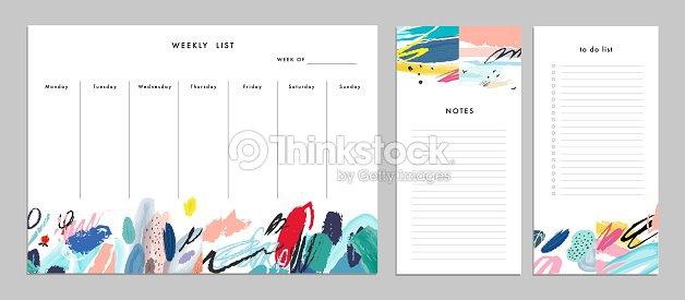 Weekly Planner Template Organizer And Schedule With Notes T