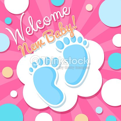 Welcome baby card vector art