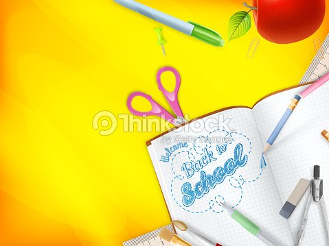 Welcome back to school greeting card eps 10 vector art thinkstock welcome back to school greeting card eps 10 vector art m4hsunfo
