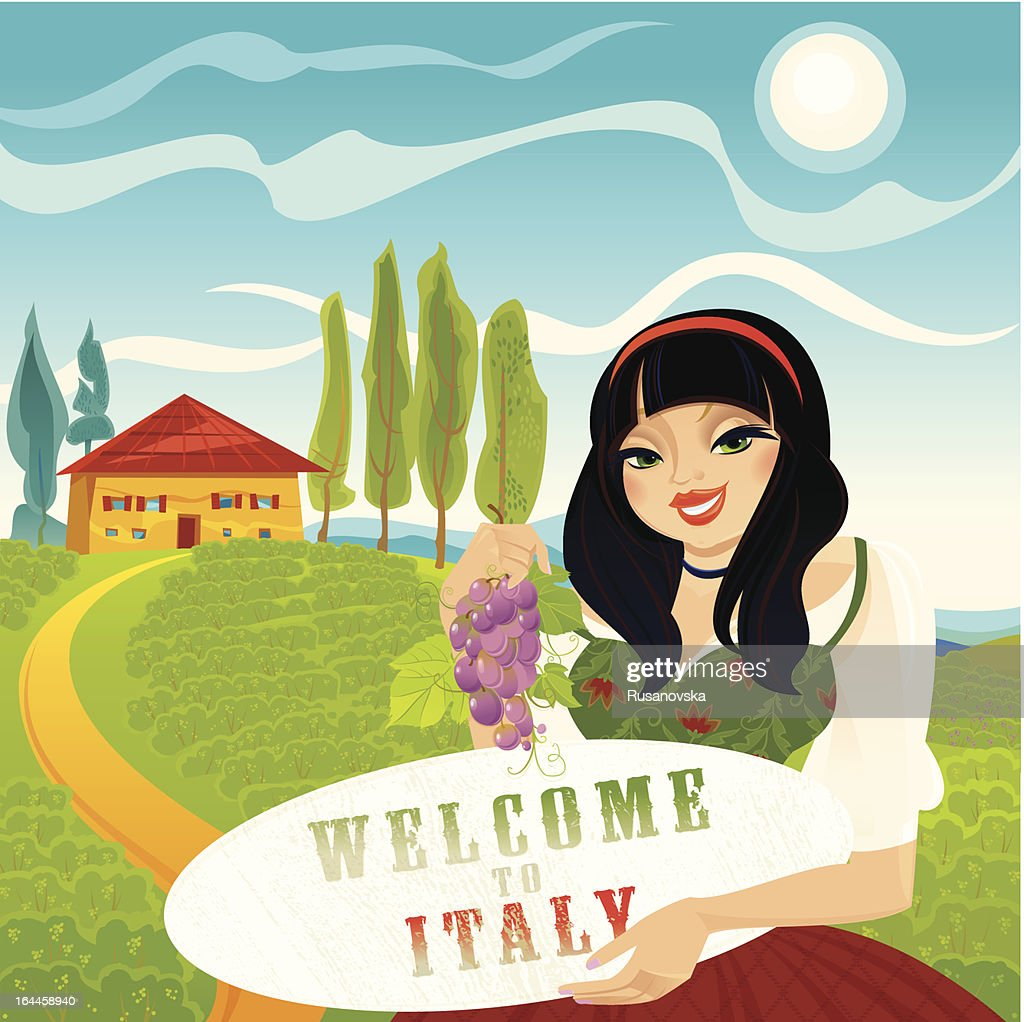 Welcome to Italy : Vector Art