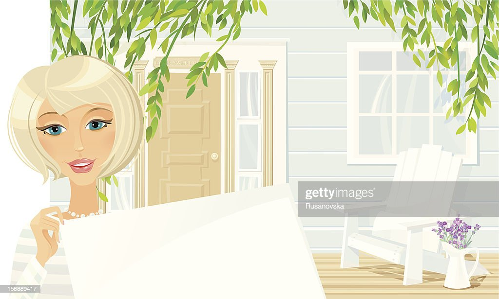 Welcome to our Cottage : Vector Art