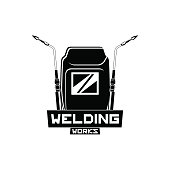 Welding mask and cutting torches. Vector