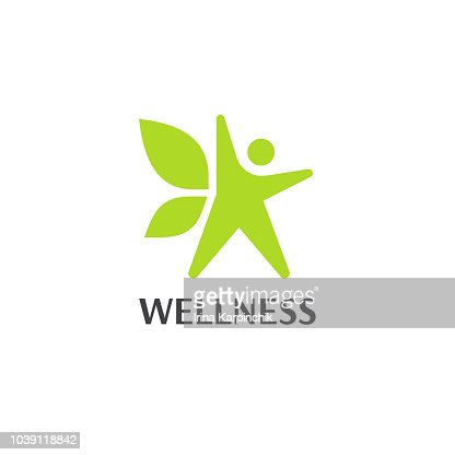 Wellness an fitness vector design template. : stock vector