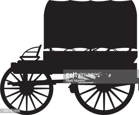 Wild West Chuck Wagon Silhouette Vector Art | Getty Images