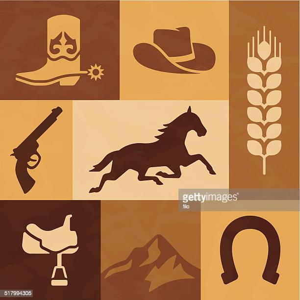 Western Cowboy and Horse Riding Elements