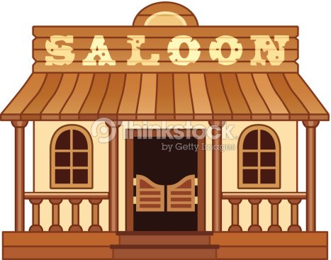 Western saloon vector art thinkstock for Miroir western