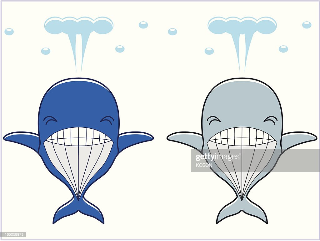 whale cartoon vector art getty images