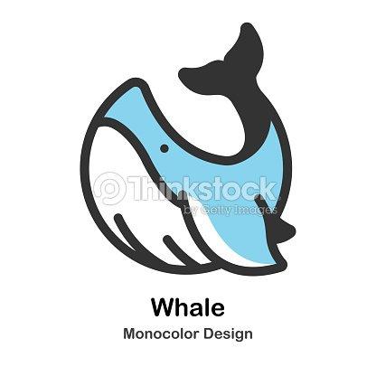 Ilustración De Monocolor De La Ballena Arte vectorial | Thinkstock