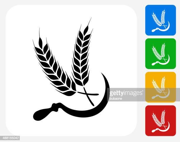 Wheat Icon Flat Graphic Design