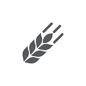 wheat icon on the white background