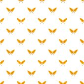 Wheat pattern seamless in flat style for any design
