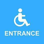 wheelchair access entrance sign vector