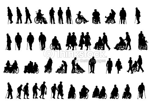 Wheelchair people on white : stock vector
