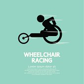Wheelchair Racing Vector Illustration