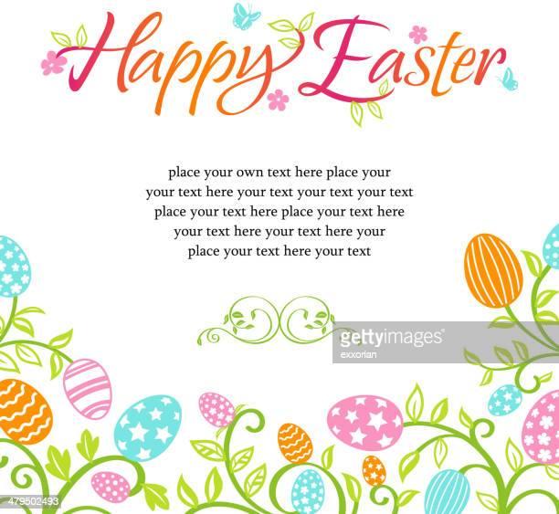 Whimsical Easter Egg Floral Frame