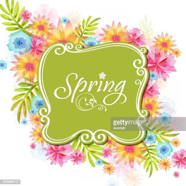 Skurrile Frühling Blumen im Frühjahr Place Card