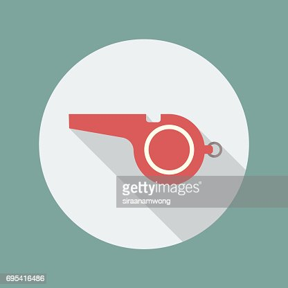 Whistle flat icon : stock vector