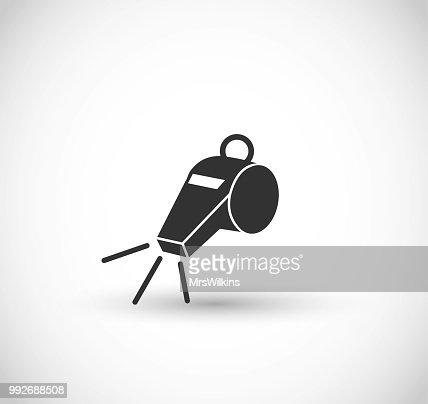 Whistle icon vector : stock vector