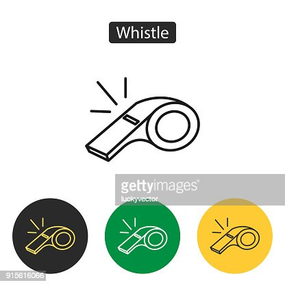Whistle of referee icon. : stock vector