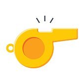 Whistle, vector illustration in trendy flat style