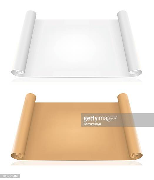 White and brown pieces of papers