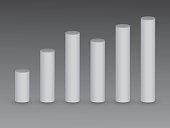 3D white bars on black background for showing growth and value in info graphic business template